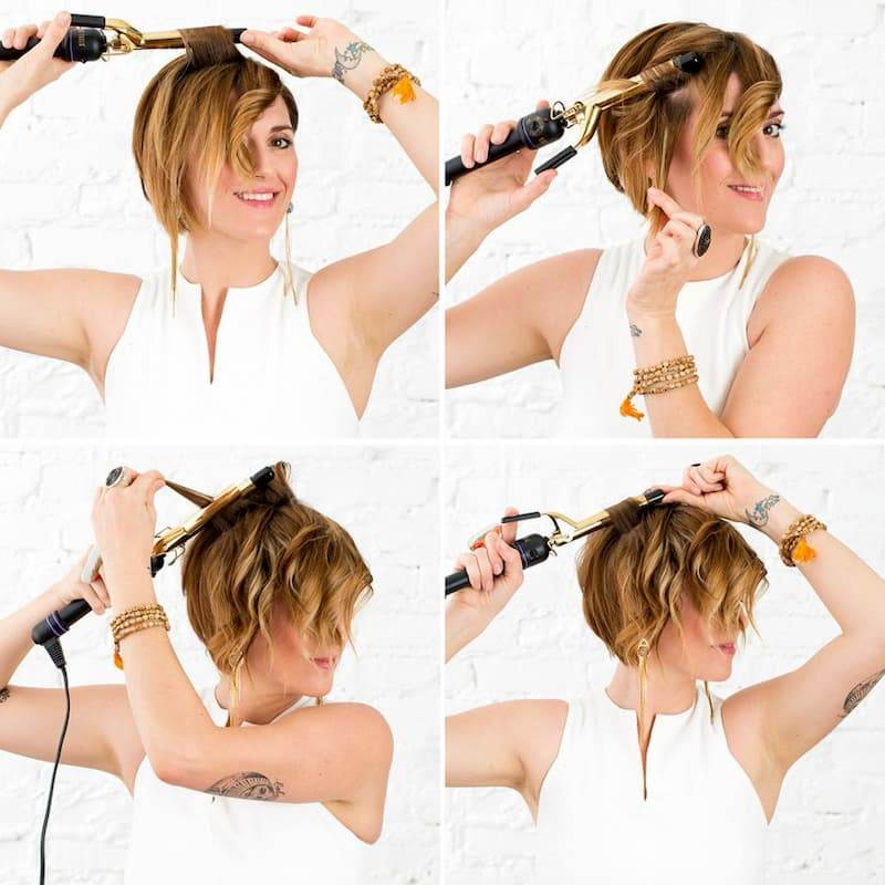How to Curl Short Hair With a Curling Iron